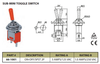 Sub Mini On/Off SPST Toggle Switch 2P 3A 125VAC - P/N CES-66-1001