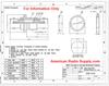 UG-492D BNC Bulkhead Feed-Thru Coaxial Adapter BNC-3192