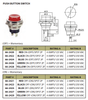 BLACK - Push Button Switch On/Off SPST 2P 4A 125VAC - P/N CES-66-2423