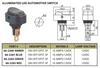 BLUE - Lighted LED Automotive Switch On/Off SPST 3P 16A/12VDC - 66-2281