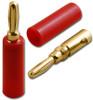 RED - Screw Type Banana Plug - Gold Plated - BNN-0806RD