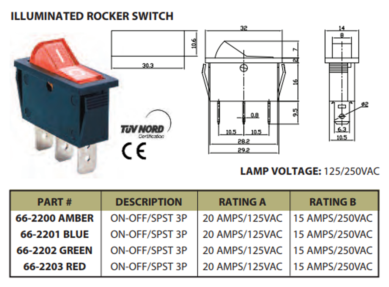 Illuminated Rocker Switch Wiring Diagram Terms on