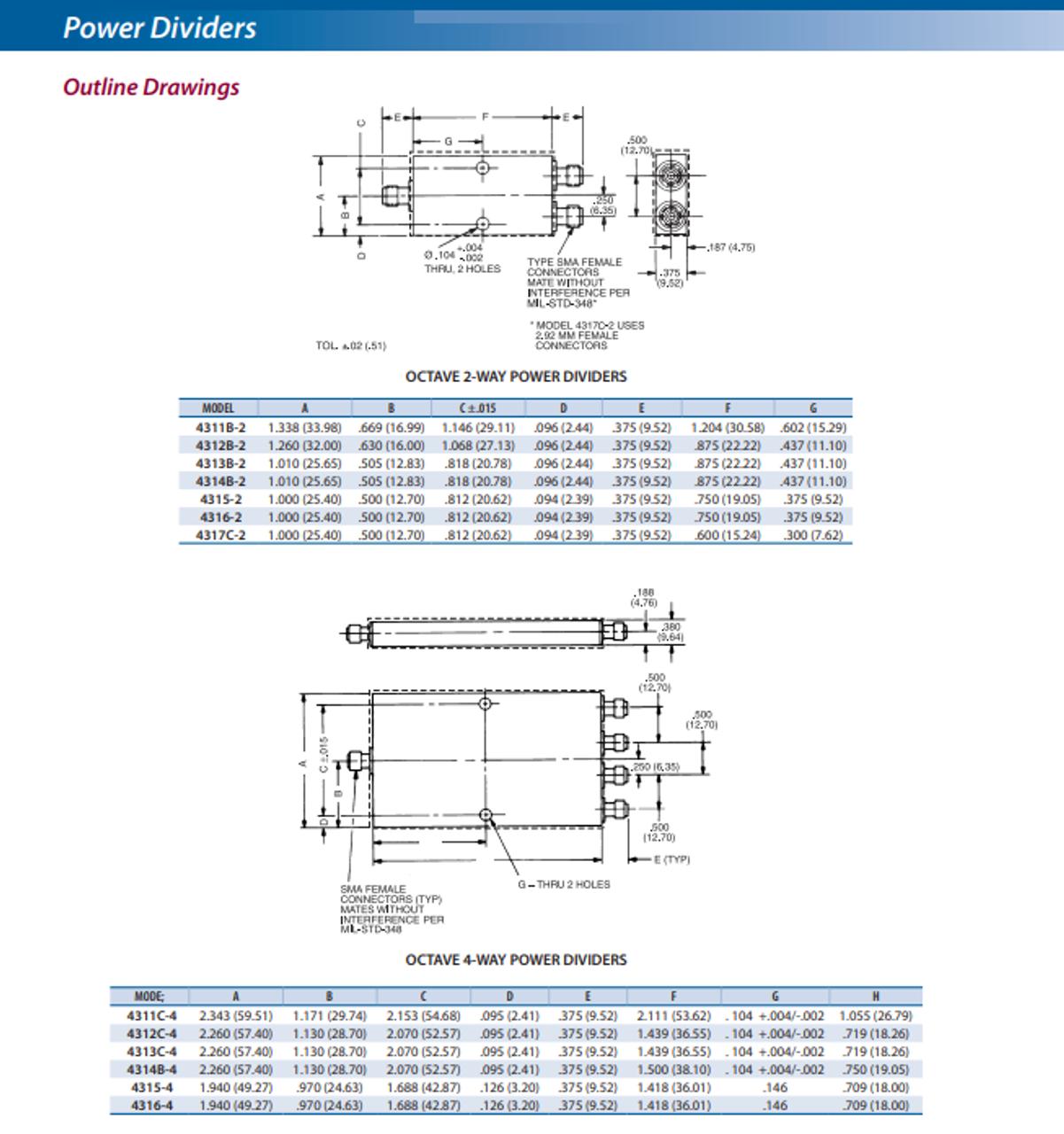 Narda Microwave 4311B-2 - 2-Way Power Divider