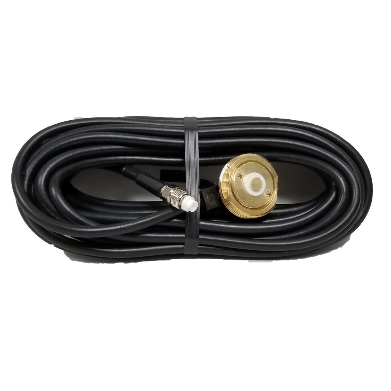NMO-3417 - NMO Antenna Cable Mount - 17-Foot RG-58 - TNC