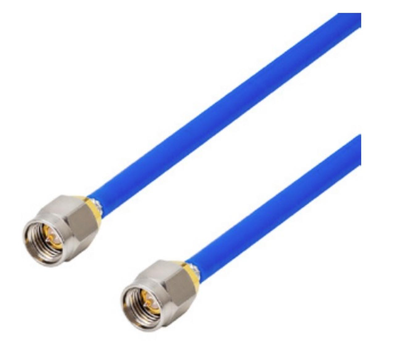 24-Inch - 141 Semiflex interconnect Coaxial Cable - SMA-Male to SMA-Male