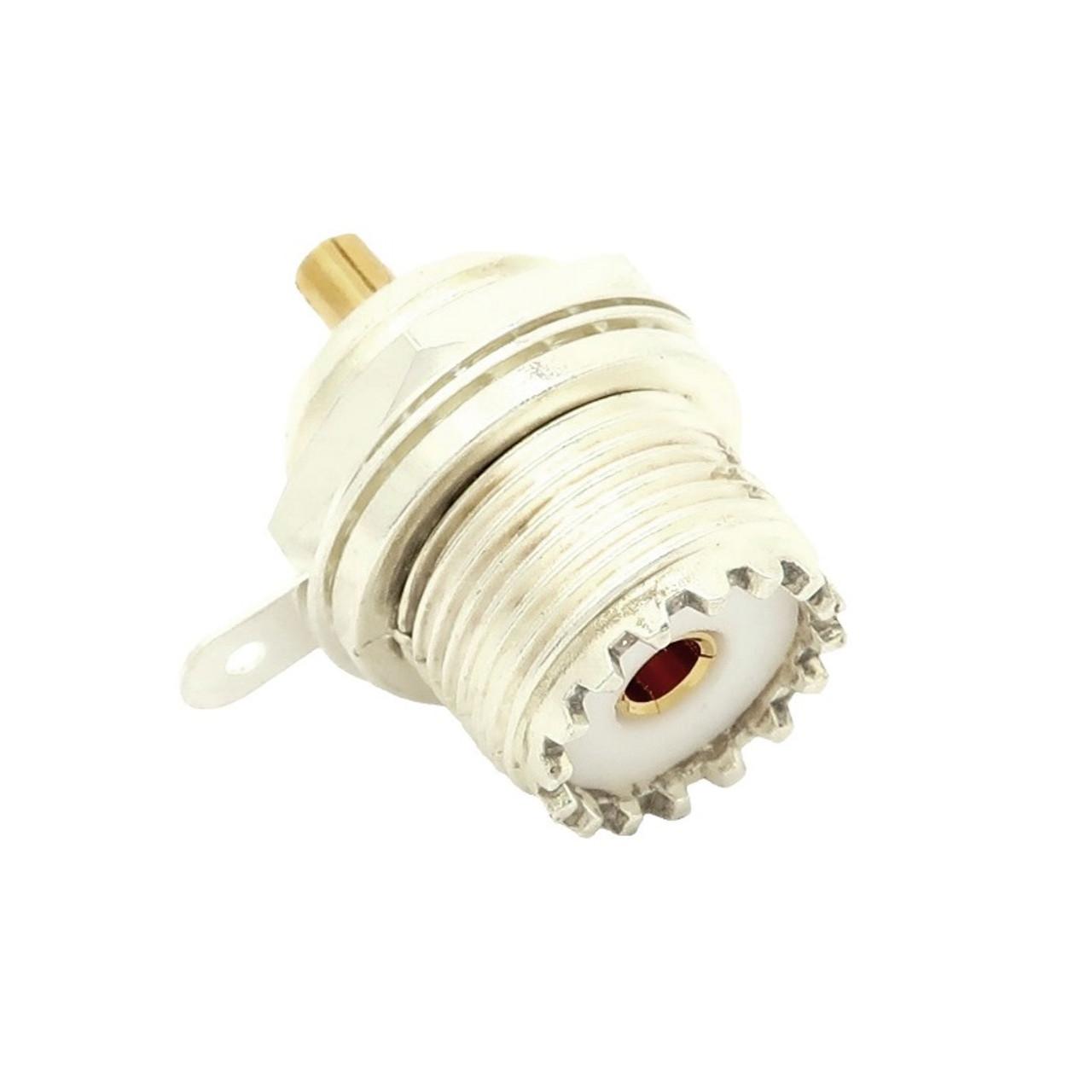 UHF-Female SO-239 Bulkhead Panel Coaxial Connector