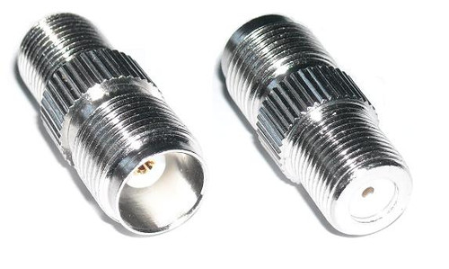 TNC-Female to F-Female Coaxial Adapter Connector