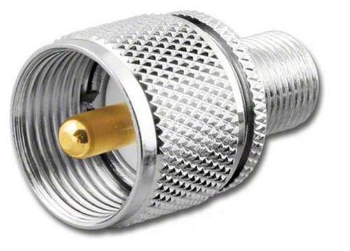 UHF- Male to F- Female Coaxial Adapter Connector