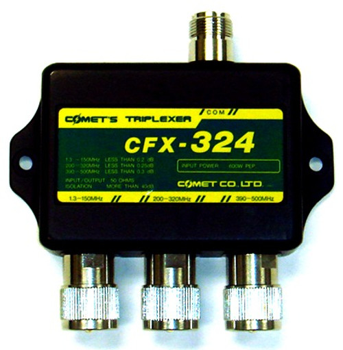 Comet CFX-324B - 2M 220 MHz 70 cm Ham Radio Triplexer