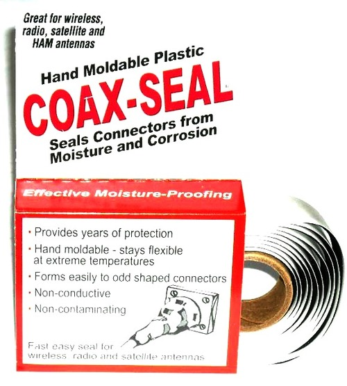 Coax Seal 104 - Hand Moldable Watertight Coaxial Cable Seal Tape
