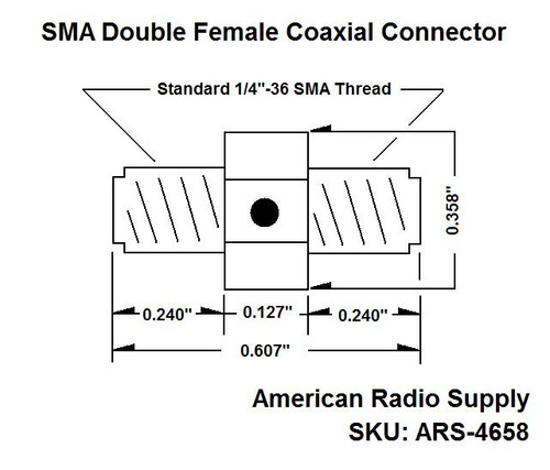SMA Double Female Adapter for Wouxun Chinese HT Ham Radios