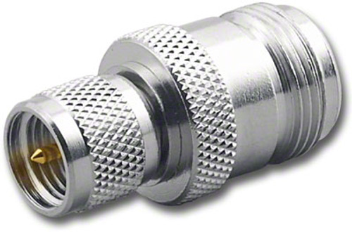 Mini UHF-Male to N-Female Coaxial Adapter Connector