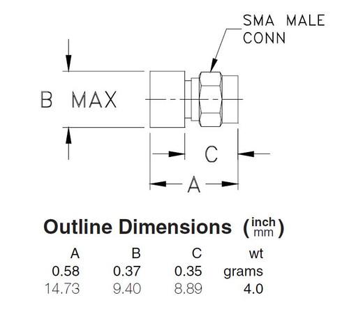 50-Ohm SMA-Male Coaxial Termination DC-18 GHz