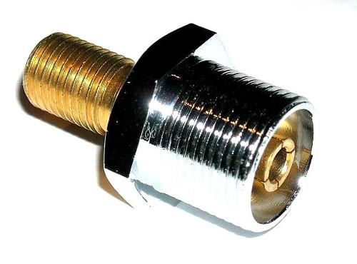 "SM-0 - SO-239 to 3/8"" x 24 Thread Stud Antenna Mount Adapter"