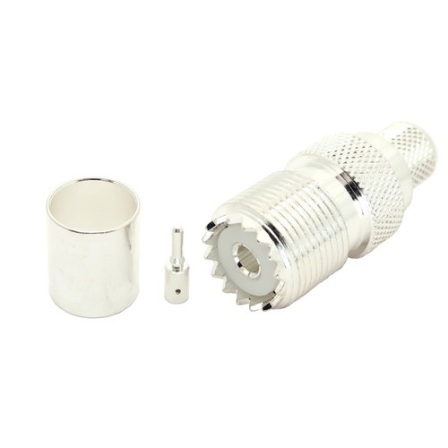 UHF-Female SO239 Cable End Connector RG-58 Coaxial Cable