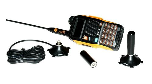 VHF/UHF Dual Band Stubby Antenna & Mini-Mag Mount Package