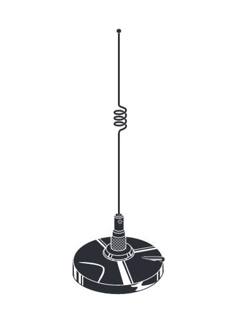 Tram-Browning 1185 - Dual-Band Mag Mount Amateur Radio Mobile Antenna