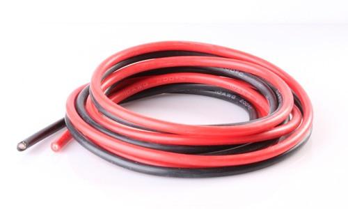 12 AWG Zip Cord Wire Red Black Twin Conductors - Per Foot
