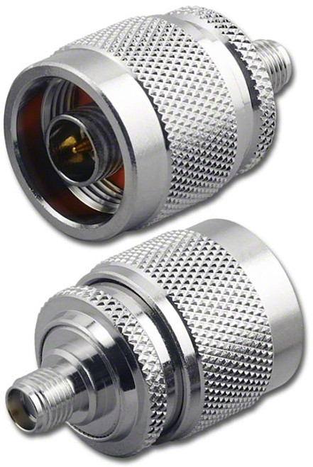 N-Male to SMA-Female Coaxial Adapter Connector