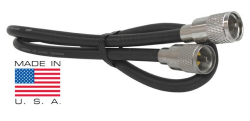 3-Foot RG8X Coaxial Cable Assembly Low-Loss 95% Shield PL-259 Mini-8