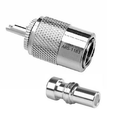 PL-259 / UG-175 Silver Teflon Coaxial Connector for RG-58 UG175