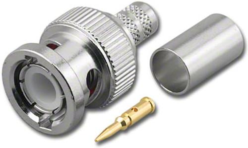BNC Straight Male (Plug) Dual Crimp Connector for RG-59/U & RG-62A/U