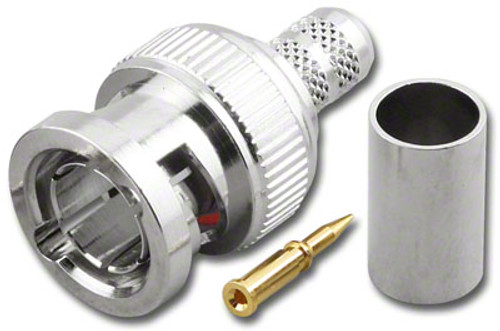 BNC Straight Male-Plug Dual Crimp Connector for RG-59/U