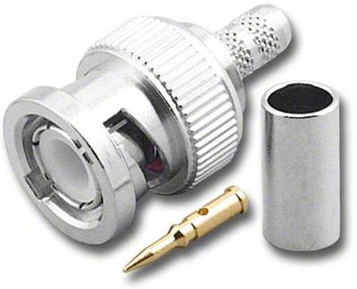 BNC-Male Dual Crimp Plug Coaxial Connector for Belden 8218 (BNC-3027)