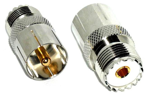 UHF Male / Female Push-On Quick Coaxial Adapter Connector PL-259