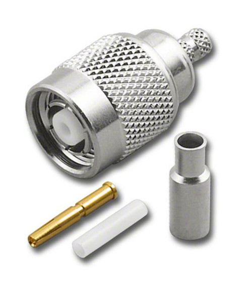 RP-TNC Straight Male Plug Crimp Connector for RG174 RG316 Coaxial Cable