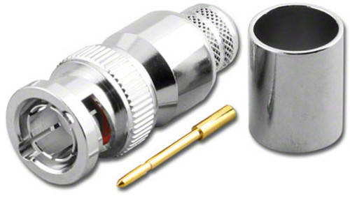 75-Ohm - BNC-Male Dual Crimp Plug Coaxial Connector for RG-11