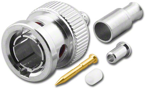 75-Ohm - BNC-Male Dual Crimp Plug Coaxial Connector for RG-179