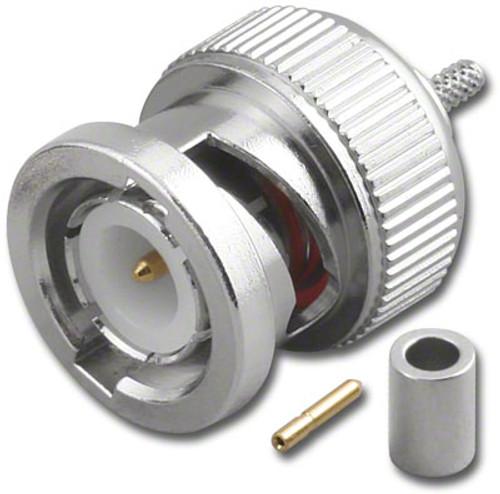 50-Ohm - BNC-Male Dual Crimp Plug Coaxial Connector for RG-196