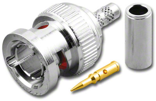 75-Ohm - BNC-Male Dual Crimp Plug Coaxial Connector for 735A