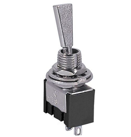 Mini Toggle Switch On/Off SPST 2P 6A 125VAC - P/N CES-66-1225