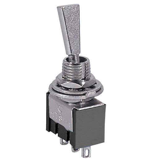 Mini Toggle Switch On/Off/On SPDT 3P 6A 125VAC - P/N CES-66-1227
