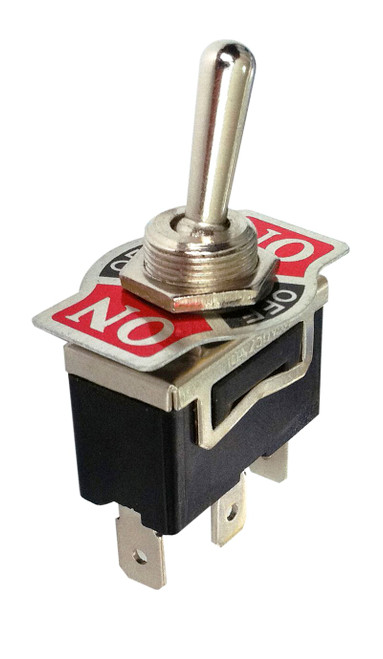 Heavy Duty Toggle Switch On/Off/On SPDT 3P 20A 125VAC - P/N CES-66-1950