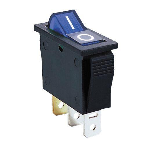 BLUE - Illuminated Rocker Switch On/Off SPST 3P 20A/12VDC -CES-66-2238