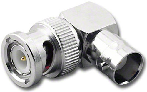 BNC M-F Right Angle Elbow Coaxial Adapter