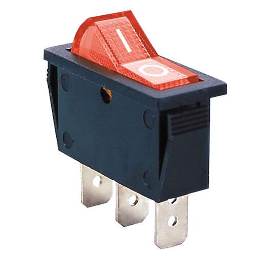 AMBER - Lighted Rocker Switch On/Off SPST 3P 20A/125VAC -CES-66-2200