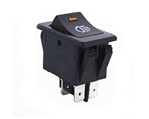AMBER - Lighted Automotive Switch On/Off DPST 4P 35A/12VDC - CES-66-2294