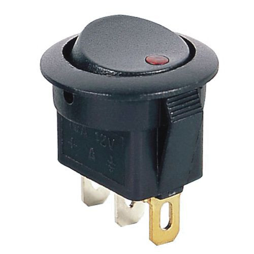 AMBER - Lighted LED Automotive Switch On/Off SPST 3P 16A/12VDC - 66-2285