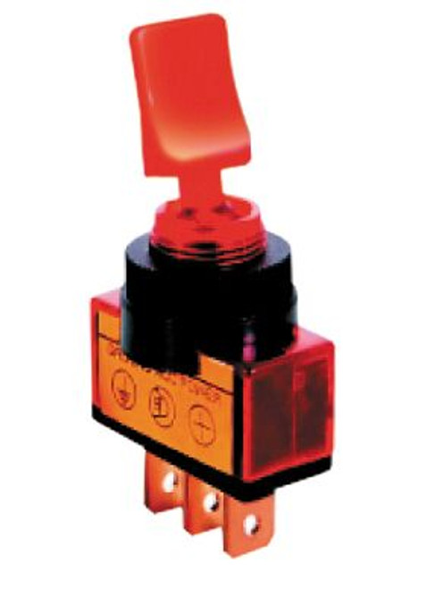 AMBER - Lighted Automotive Switch On/Off SPST 3P 20A/12VDC - CES-66-2035