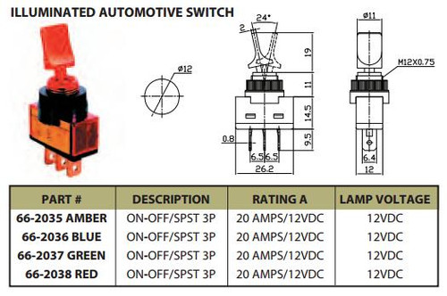 spdt switch wiring diagram lighthouse illuminated automotive switch on off spst 3p 20a 12vdc ces 66  off spst 3p 20a 12vdc ces
