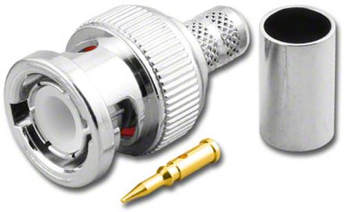 BNC-Male Dual Crimp Plug Coaxial Connector for RG-59 RG-62A (BNC-3821)