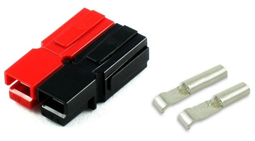 30 Amp Red/Black DC Pwr Plug Connector Set 30A