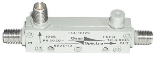 Omni-Spectra 2020-6605-10 dB Directional Coupler
