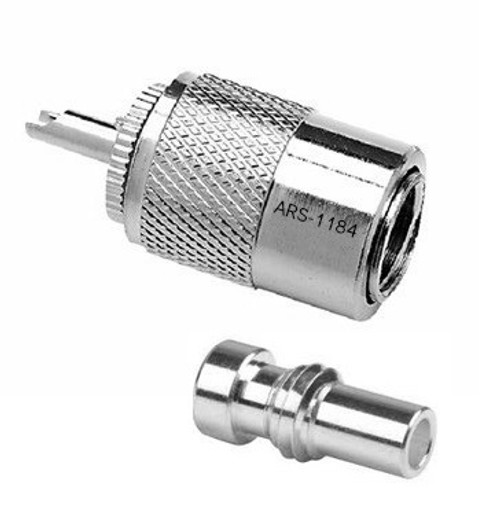 PL-259 / UG-174 Silver Teflon Coaxial Connector for RG-174 RG-316