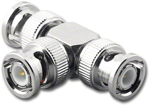 BNC All Male Tee 'T' Coaxial Adapter (BNC-7376)