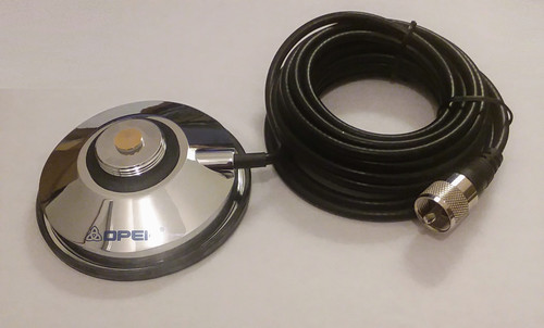3.5-Inch - NMO Magnetic Antenna Mount - 14-Foot Cable with PL-259